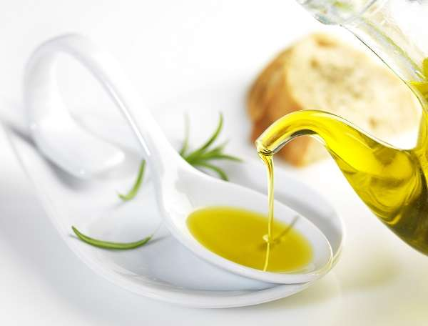 spoon of olive oils from Spain