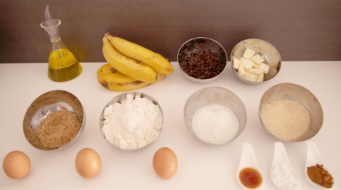 Dad's Banana & Cinnamon cake ingredients
