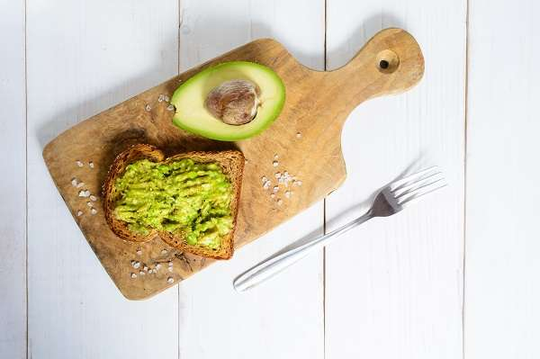 Lemon and avocado toast