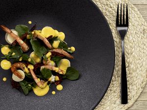 Palm heart and watercress salad with pequi vinaigrette