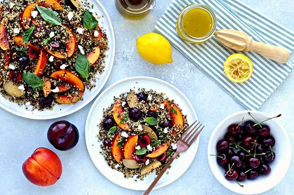 Quinoa Salad with Stone fruit