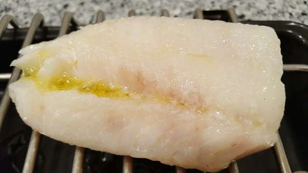 Cod with extra virgin olive oil