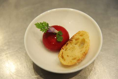 Mini Babybel of truffled camembert