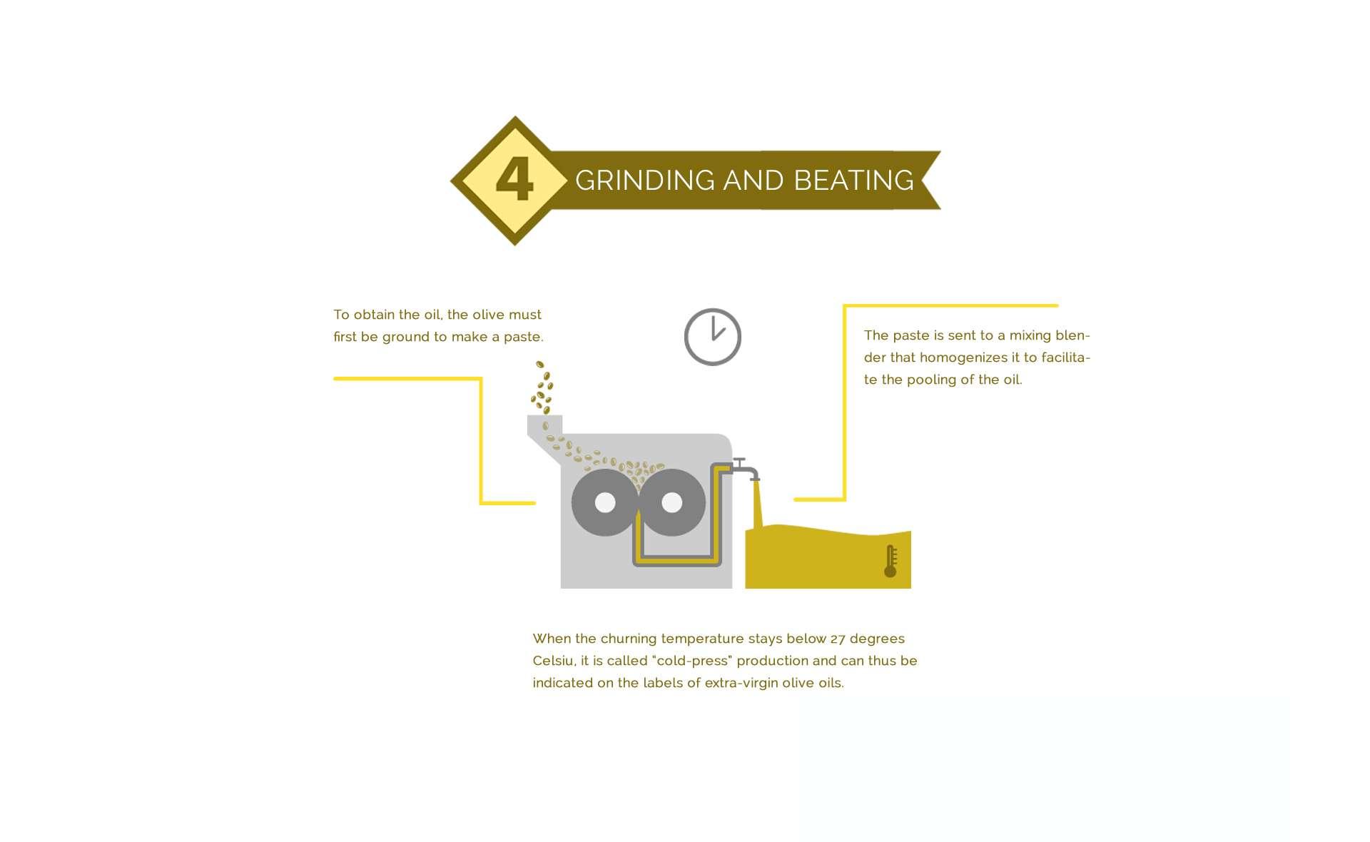 Olive oil grinding
