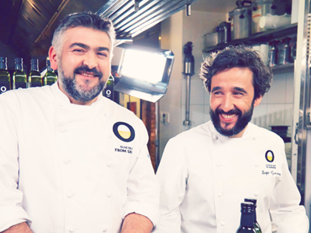 Chef Diego Guerrero and chef Frank Camorra