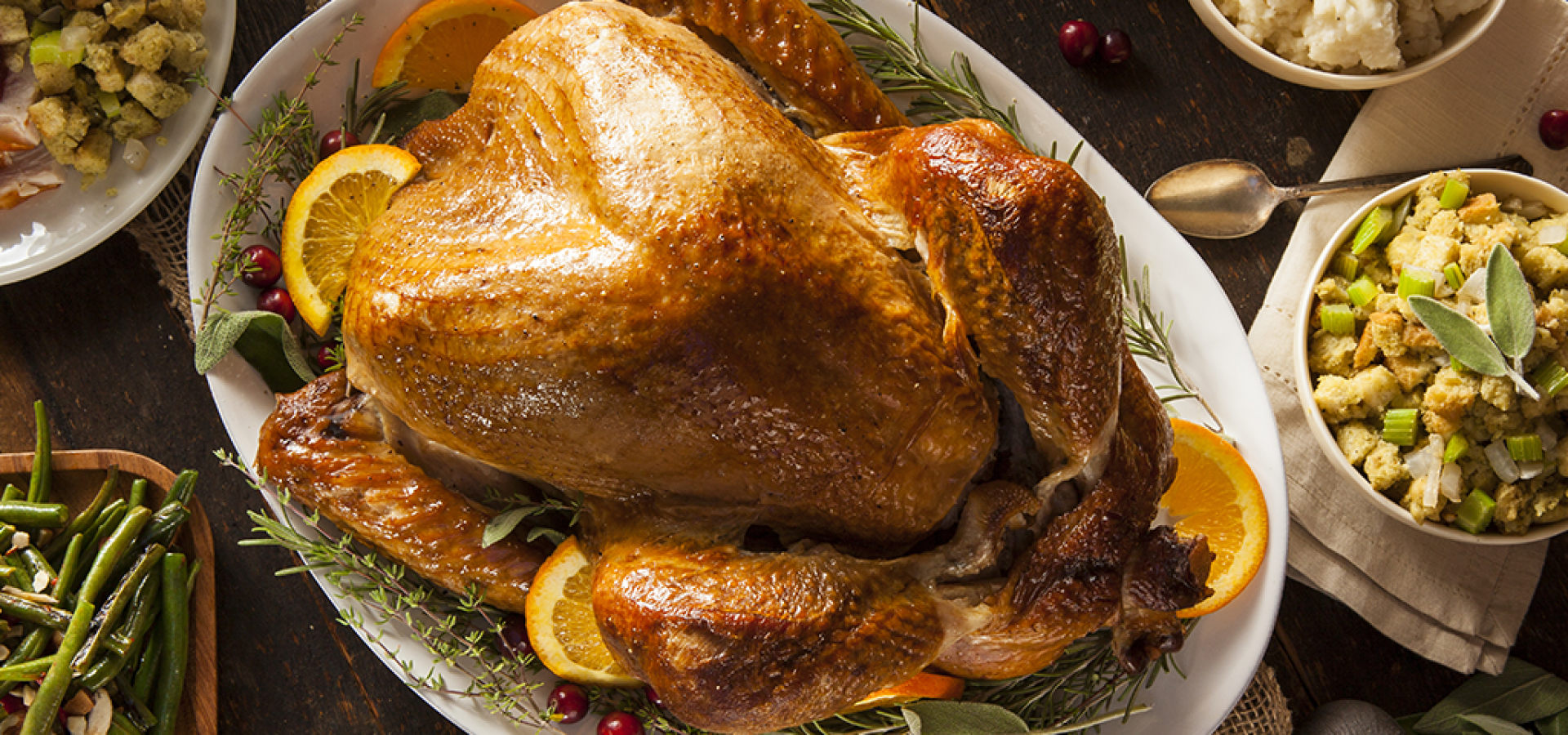 Thanksgiving turkey with olive oil