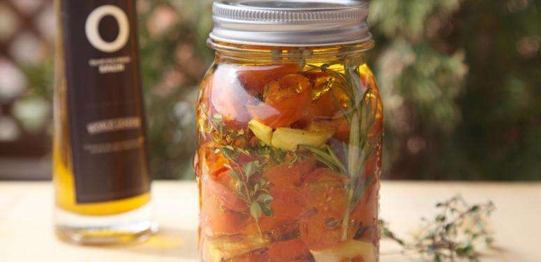 Healthy fast food preserving in Olive Oil