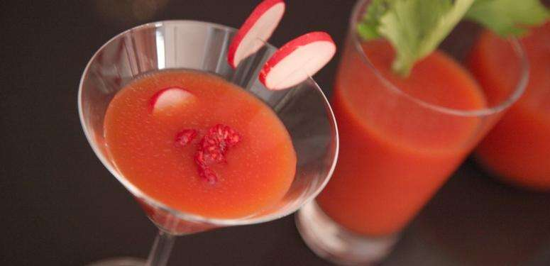 Two tips for seeing in the New Year with this stunning Bloody Mary