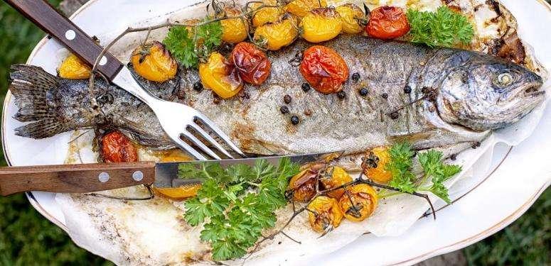 Basque poached bass recipe