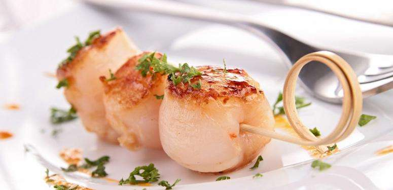 Grilled Scallops with Lemon-Herb Drizzle recipe