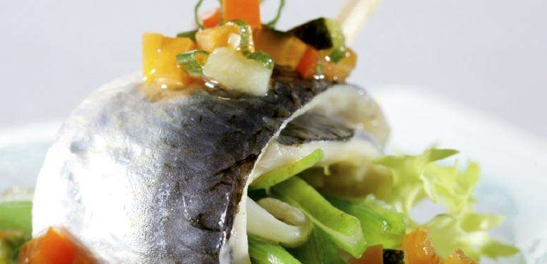 Marinated sardines with green beans
