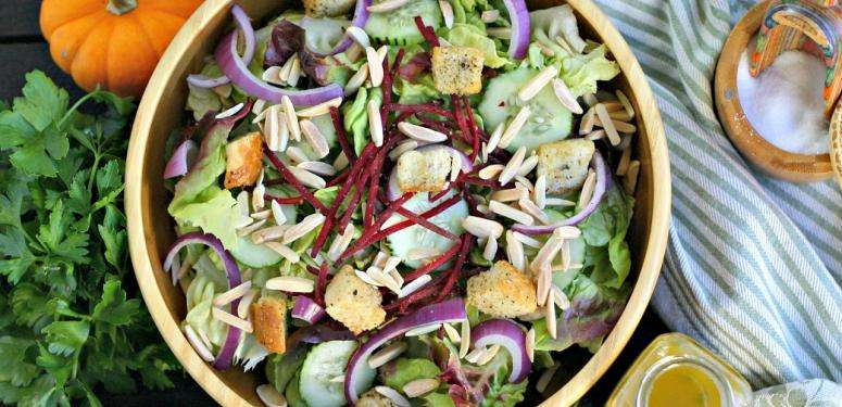 Thanksgiving Salad Dressing with Fresh Herbs and Sherry Vinegar