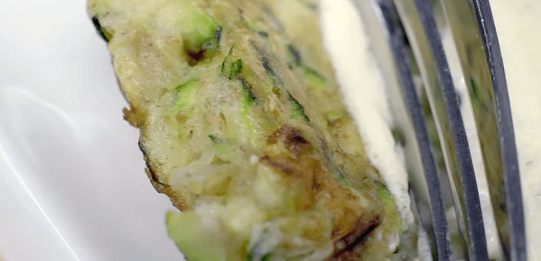 Zucchini fritters with yogurt sauce recipe