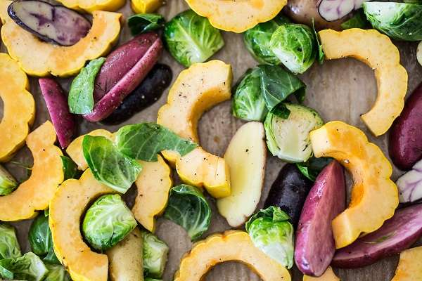 Winter Roasted Vegetables with Lemon Extra Virgin Olive Oil Dressing details
