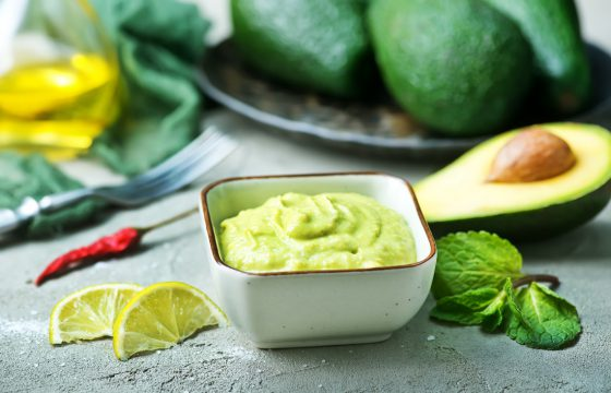 Avocado lime cream