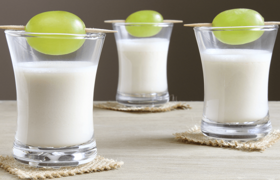 Ajo Blanco: chilled Spanish almond and garlic soup with grapes