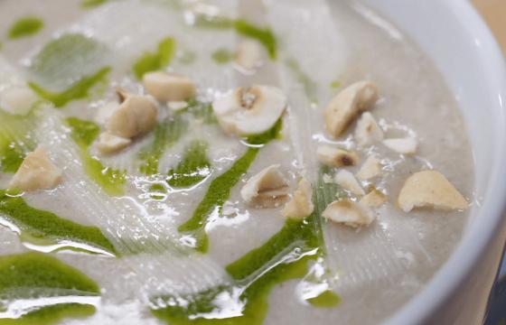 Cream of Mushroom Soup with Hazelnuts