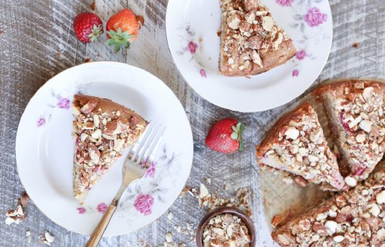 Strawberry breakfast cake recipe