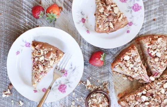 Strawberry breakfast cake recipe