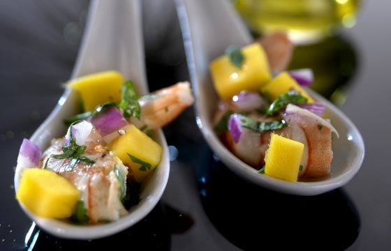 King prawn ceviche with mango