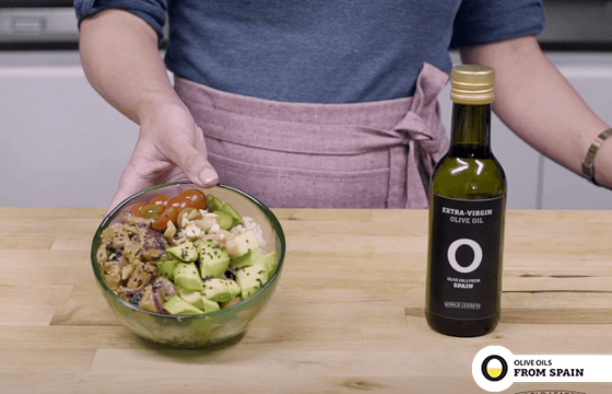 """Poke"" salad with lemon and Olive Oil dressing"