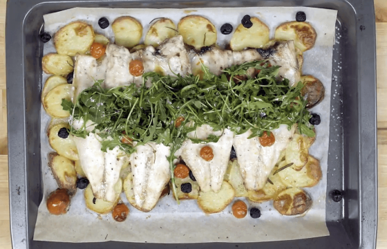 Roasted rosemary sea bass