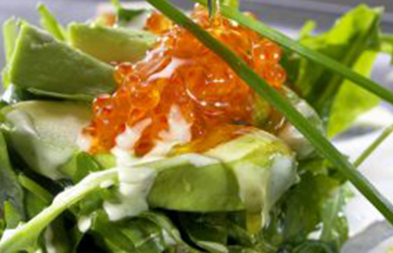 Rocket salad with smoked fish and avocado recipe