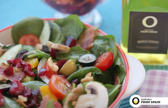 Salad with bright cherry vinaigrette recipe