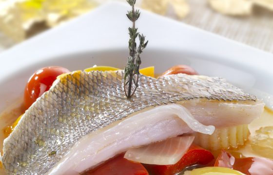 Braised sea bream with thyme in Extra Virgin Olive Oil