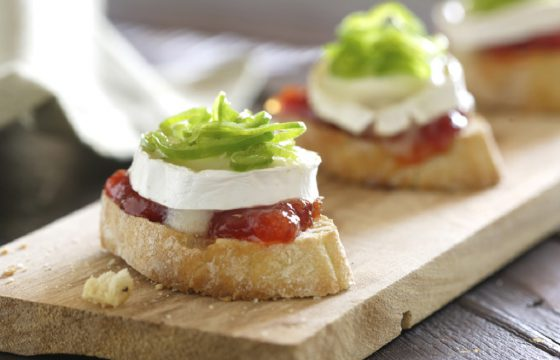 Tomato jam on toast