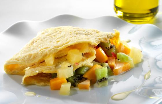 Tropical omelette recipe
