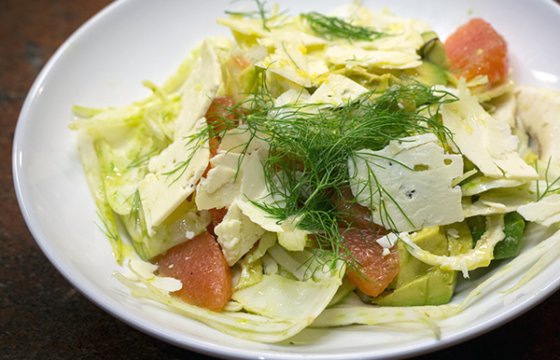 Fennel and Artichoke Salad with Grapefruit
