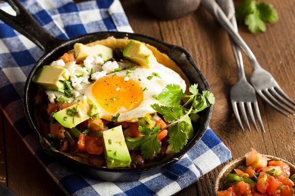 Huevos rancheros ready to eat
