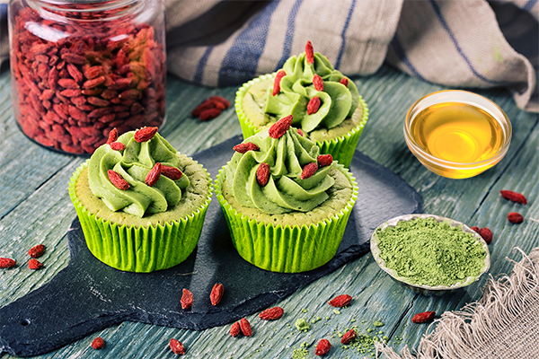Vegan chocolate matcha cupcakes are also known as fairy cakes