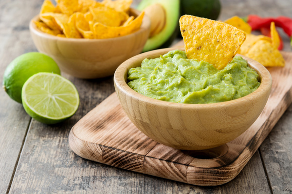 Guacamole is a classic healthy snack