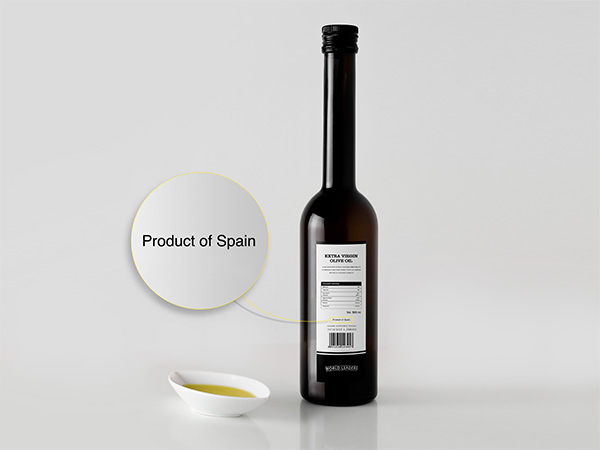 The label in a Spanish olive oil bottle has a lot of useful information, like the best before date